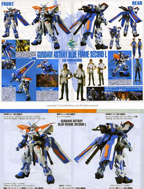 Lắp ghép Gundam Astray Blue Frame Second L tỷ lệ 1/100