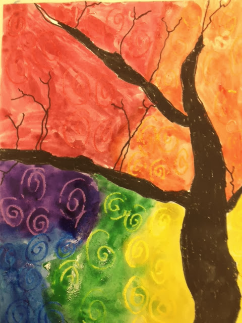 Creations From Young Minds Second Grade Color Wheel Tree