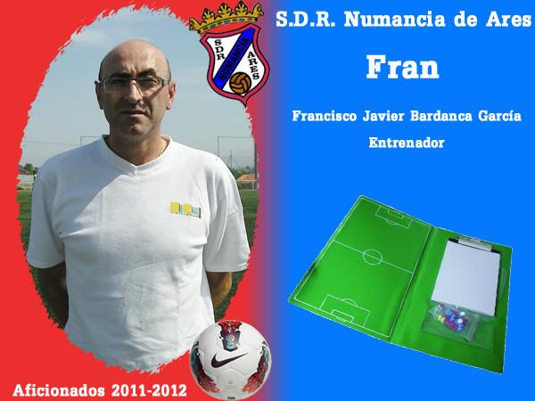 A.D.R. Numanciad de Ares. Fran Bardanca. Entrenador