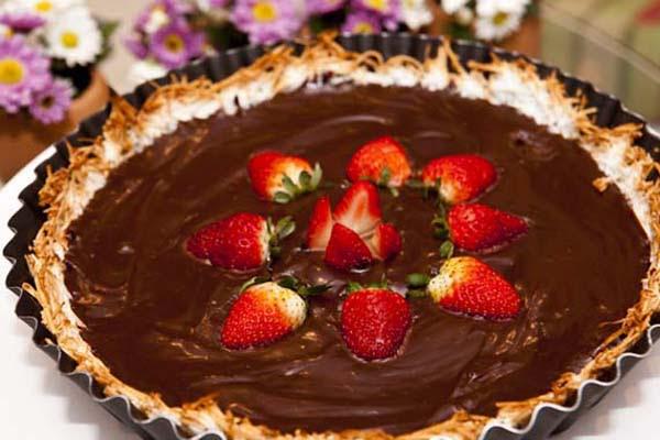 Torta de Coco e Brigadeiro