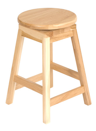Simple Barstool in Natural Hickory