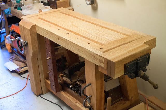Oak Wood Projects ~ Splayed leg red oak cherry douglas fir roubo work bench