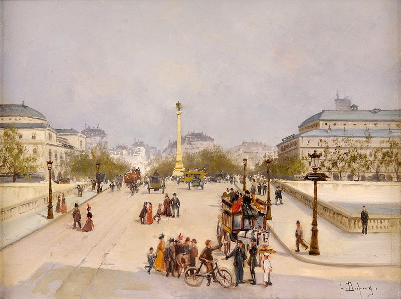 Eugène Galien-Laloue - Boulevard in Paris