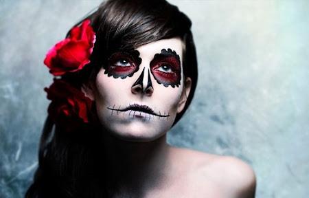 maquiagem sugar skull