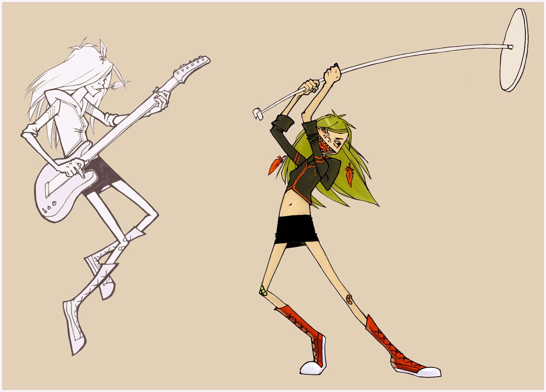 Character Design Class : Character design class sarah s gorillaz poses