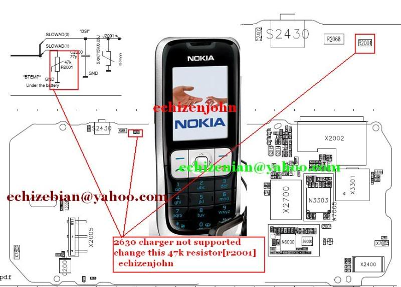 Nokia Mobile Repair Nokia 2630 Not Charging Amp Charger Not