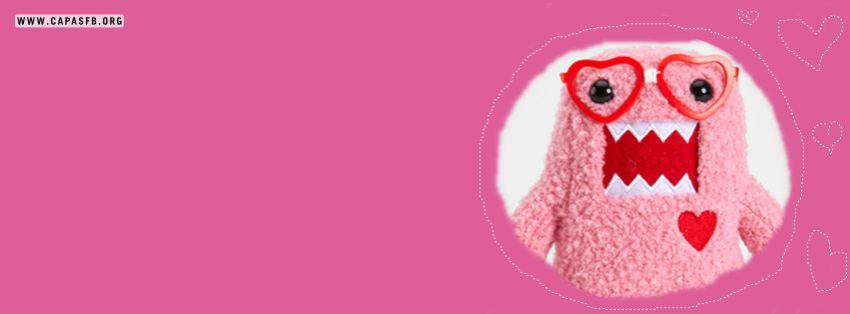 Capas para Facebook Domo Pink