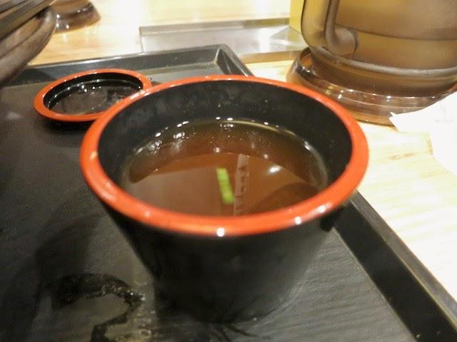 蕎麦湯で割ったつけ汁