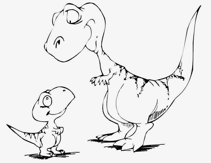 dessin de dinosaure colorier gratuit