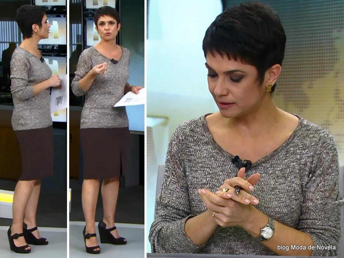 moda do Jornal Hoje - look da Sandra Annenberg