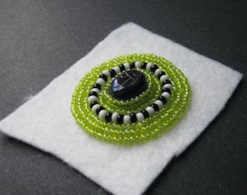 Scarab Bead Embroidery