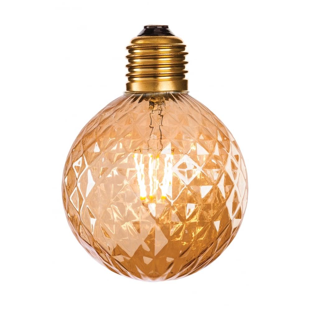 Amber Glass 1Lt Decorative Lamp