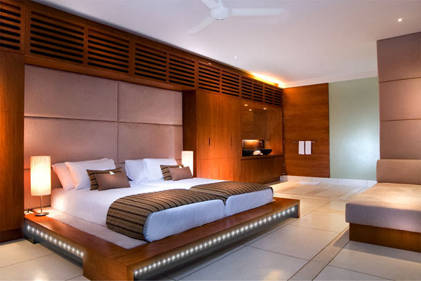Luxury Bedroom with Led light strip