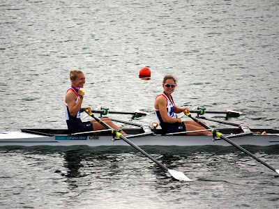 Team GB rowing at the Olympics in London