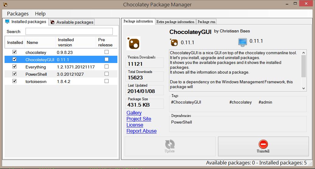 ChocolateyGUI