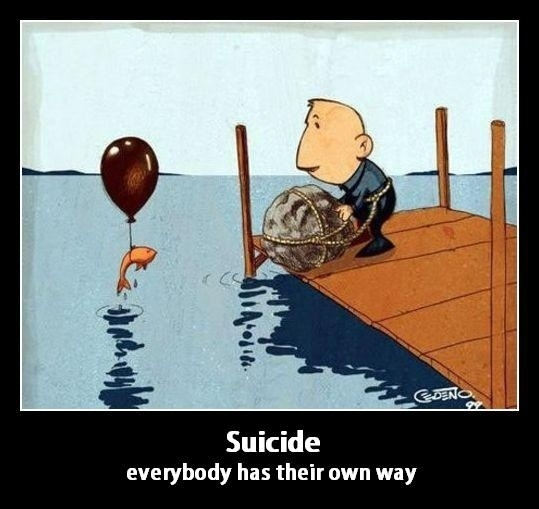 Suicide Fish Cartoon