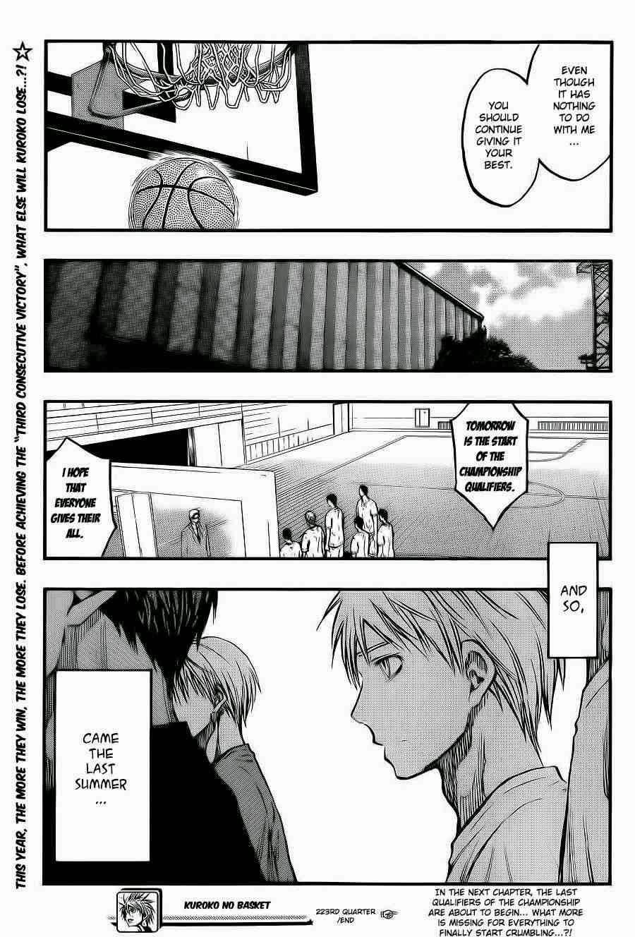 Kuroko no Basket Manga Chapter 223 - Image 19