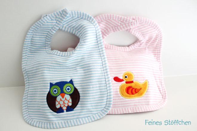 Babylätzchen besticken | Feines Stöffchen: Nähen für Kinder ...