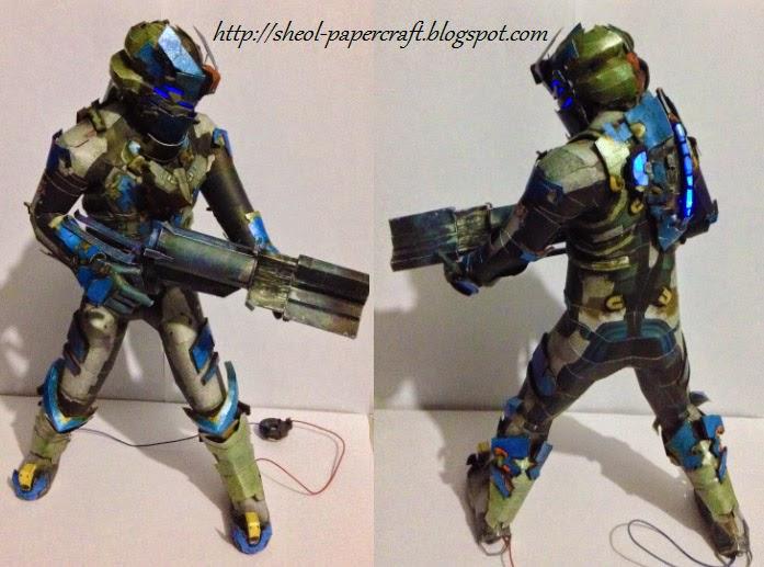 Dead Space 2 Advanced Suit Papercraft