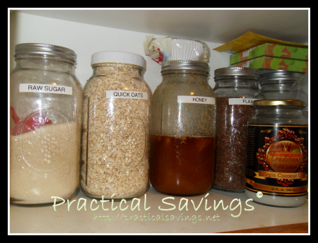 organize the kitchen - http://practicalsavings.net