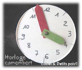 Horloge en boîte de camembert enfant
