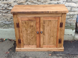 Hand Maked Two Door Sideboard Made From Rustic Pine Hand Waxed