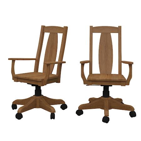 Breton Office Chair in Calhoun Maple