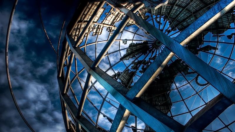 Blue Unisphere wallpaper