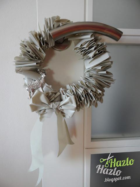 Cómo hacer una corona de Navidad.