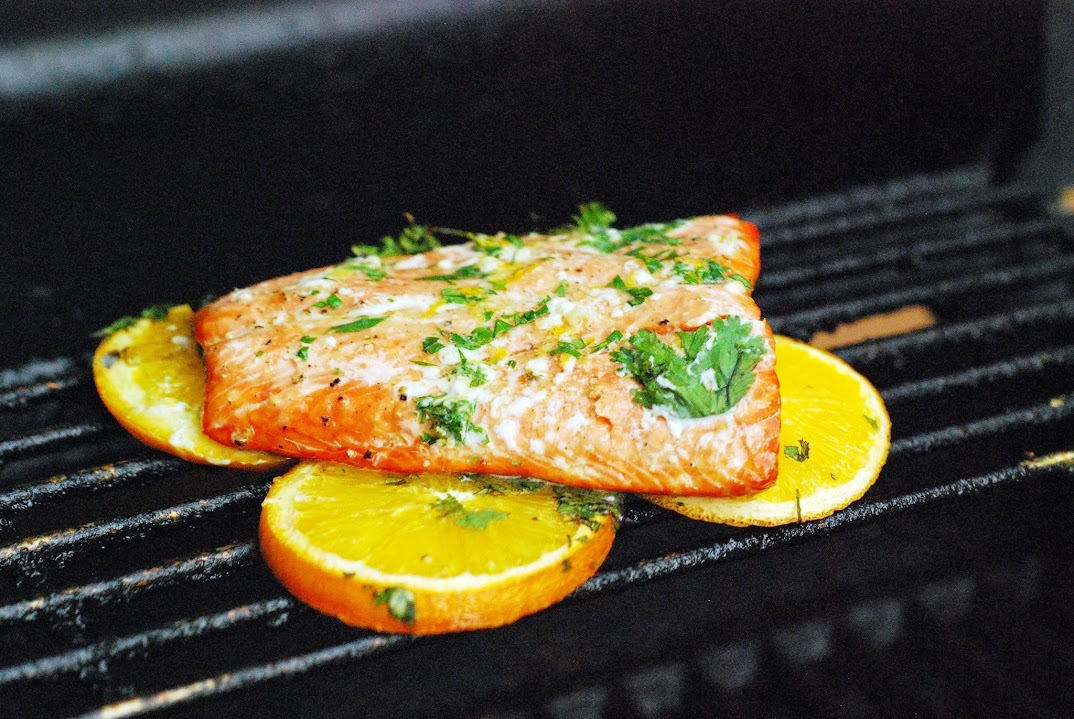 Grilled Salmon with Citrus Butter
