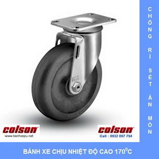 Bánh xe đẩy chịu nhiệt càng bánh xe inox 304