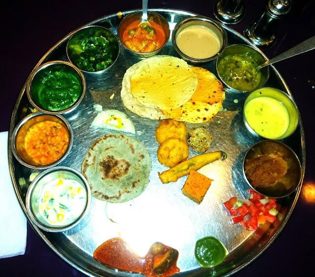 Gujarati Thali at Thaker Bhojanalay, Mumbai, India