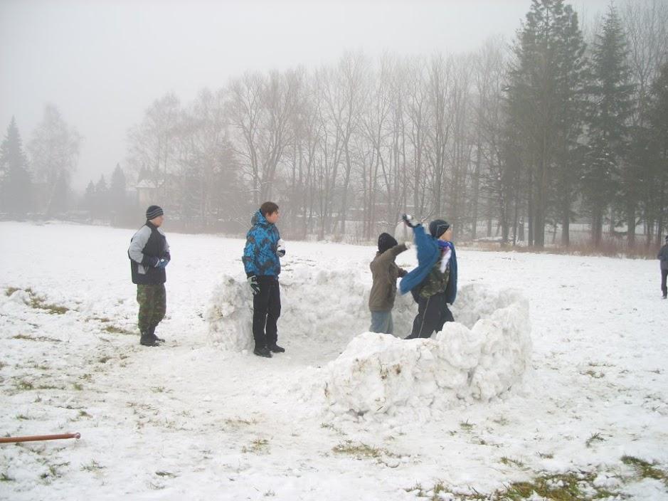 Fotky ze Sněhových staveb