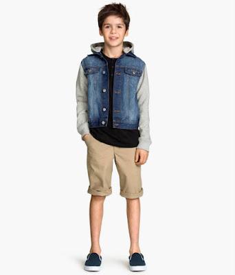 Short kaki bé trai, hiệu H&M, hàng xuất xịn, made in cambodia.