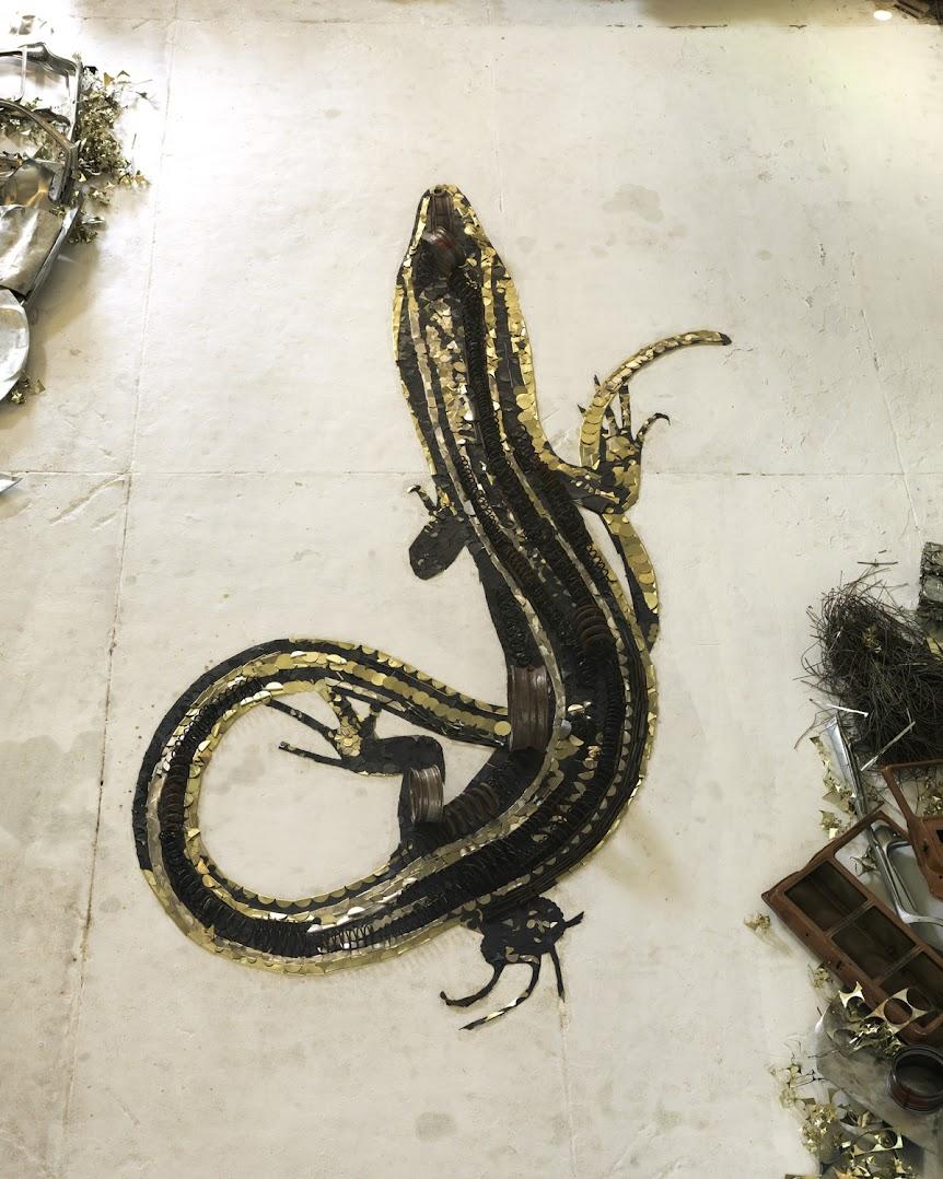 *巴西藝術家VIK MUNIZ:廢金屬回收創作之美! 2