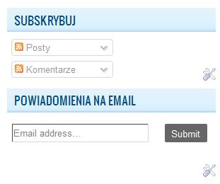 powiadomienia email i rss