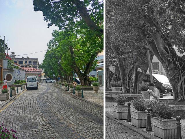 A street in Macau