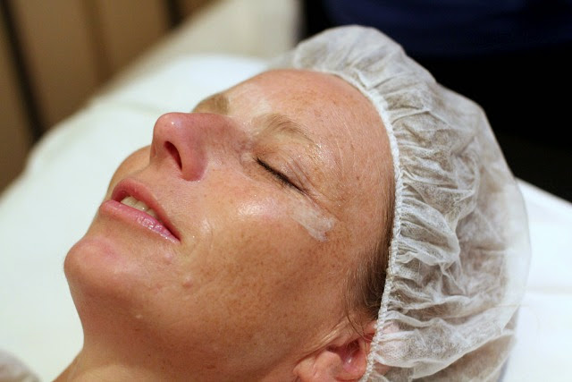 Mom's La Prairie facial