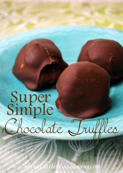 Simple Chocolate Truffles by Little House Living