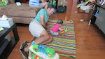 Uncle and Niece bond over the toys