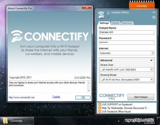 Connectify 3.2.0.22201 Full - Dùng laptop để phát Wifi - Image 1