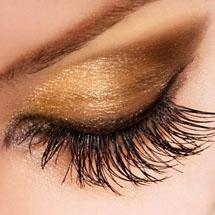 Maquiagem de Natal olhos dourados