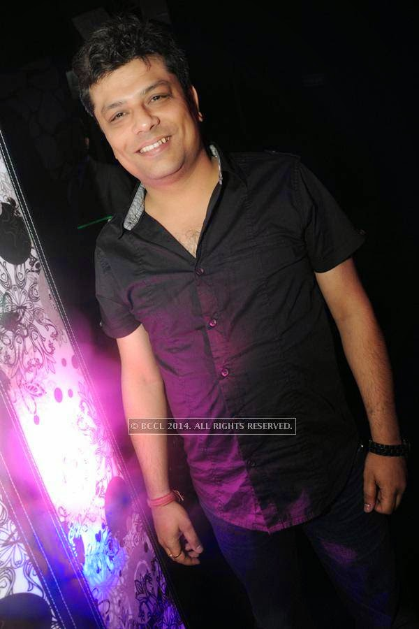 Ankit Das during the party, held at BW club, New Friends Colony.