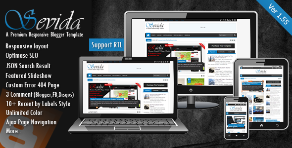 Share Free Sevida Responsive Magazine Blogger Template v2.4.2 - Blogger Template for seo