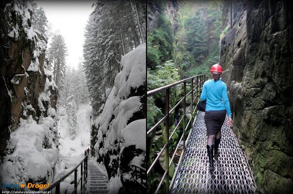 wąwóz kamieńczyka latem i zimą