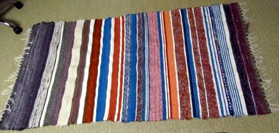 Wollmoni´s Teppich gewebt auf dem Leclerc Artisat
