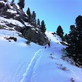 Wandern - Martellerhütte12.01.12 mit Schneeschuhen