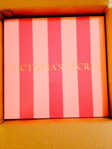 WorthyStyle Victorias Secret gift box inside Influenster shipment box