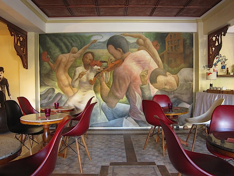 mural at the cafe of Casa San Miguel in San Antonio, Zambales