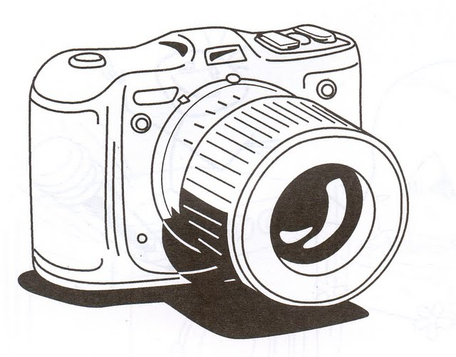 Dibujo de camara de fotos para colorear - Imagui